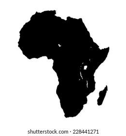 Image of modern Africa map illustration