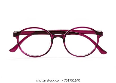 fe41507651ac Image of modern fashionable spectacles isolated on white background