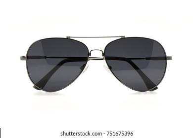 Image of modern fashionable sunglasses isolated on white background, Glasses.