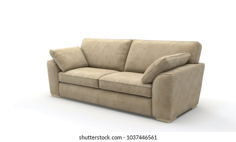 Image of a modern sofa isolated on white