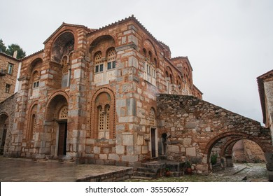 Image of  monastery of St. Luke near Delphi in central Greece
