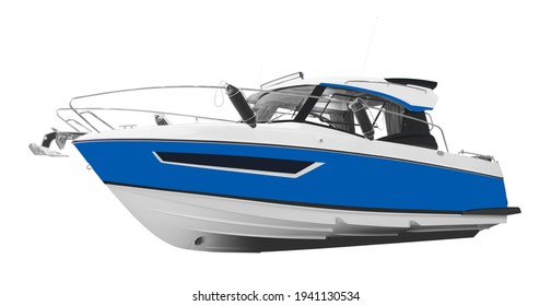 The image of motor boat