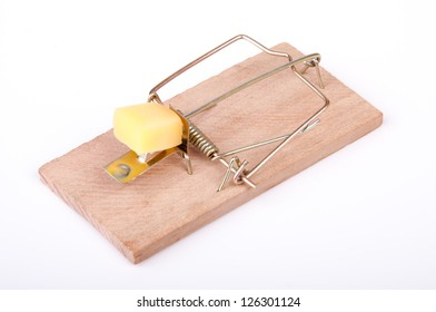An image of mouse trap isolated on white