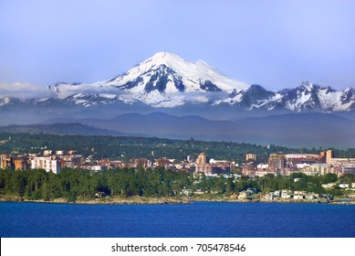 Image of Mt. Baker, WA, USA and Victoria, Vancouver Island, BC, Canada