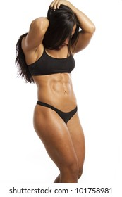 Image of muscle woman posing in studio
