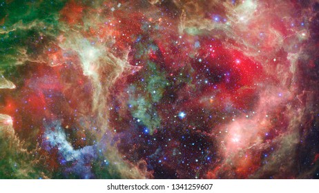 Image of the nebula in deep space. Infinity sky. Elements of this image furnished by NASA.