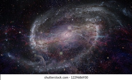 Image of the nebula in deep space. Night sky. Elements of this image furnished by NASA.