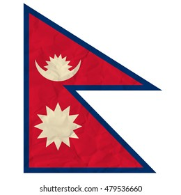 image of the Nepal paper flag