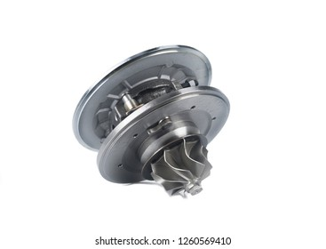 Image of New part of the turbo, supercharger isolated on white