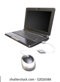 image of a new small computer isolated over a white background