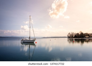 An image of a nice boat at Starnberg lake