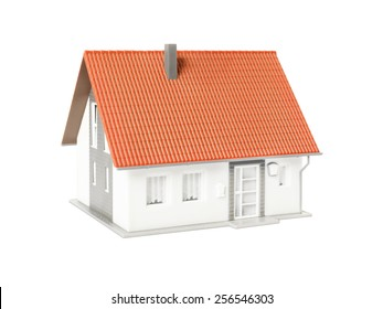An image of a nice model house isolated on a white background