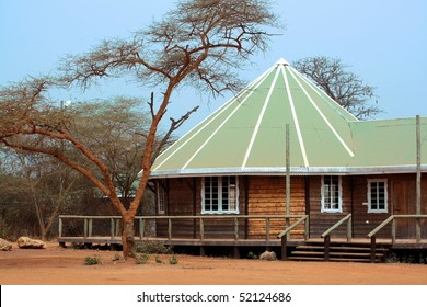 Image of a nice safari lodge in Africa.