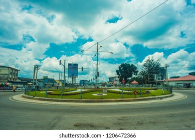 An image of Nwanja Roundabout in Port Harcourt, Rivers State/ Nigeria - September 11th 2018