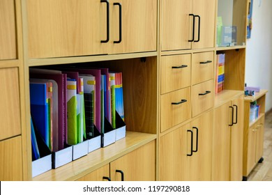 The image of an office closet
