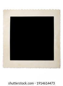 Image of old blank photo with shadow on white background
