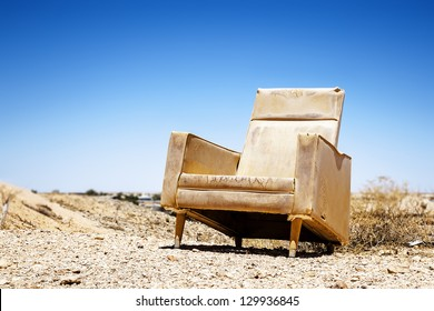 An image of an old chair outdoor