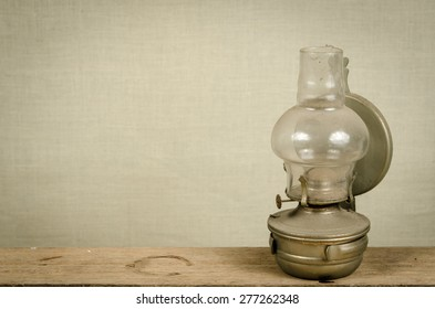 Image of old kerosene lamp