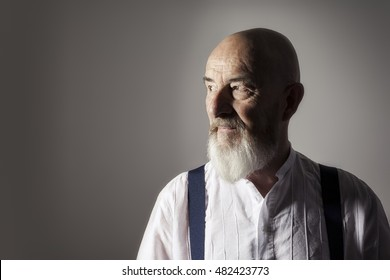 An image of an old man with a beard portrait