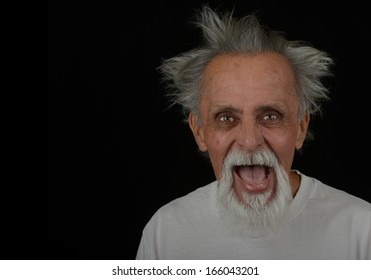 Image of a Old mexican man who has Lost it.