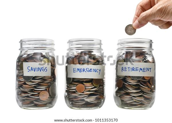 複数の目的のためにお金を節約する概念のイメージ