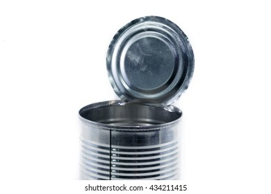 image of opened tin can.
