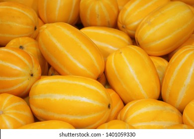 An Image of Oriental Melons, which Korean enjoy eating as dessert in summer season