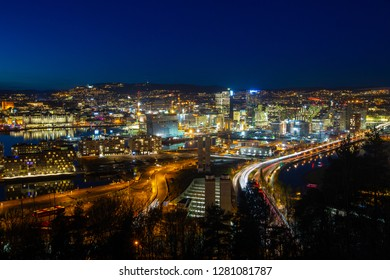 Image of Oslo city. Oslo is the capital and the most populous city in Norway. This image show the harbor and a new and modern area in Oslo called Barcode.
