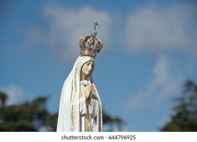 The image of Our Lady of Fatima in the Sanctuary of Our Lady of Fatima, Portugal.