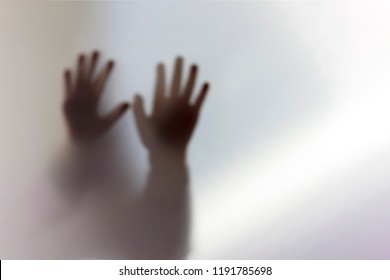 the image is out of focus. Transparent transparent fabric and shadows. ghost and ghost.