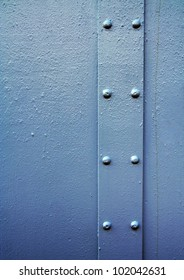 image from outdoor texture background series (metal with rivets on a steel plate)