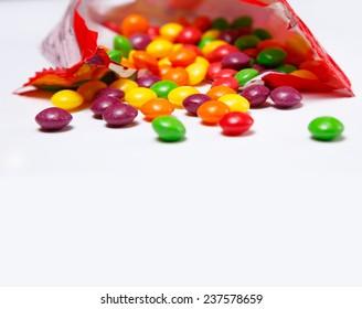 Image of pack full of skittles