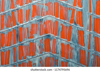 Image of paint streaking down an orange paint tray