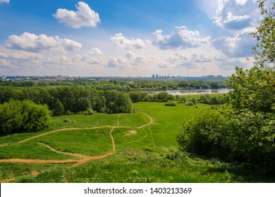 Image of a panorama of Kolomenskoye park in Moscow at spring