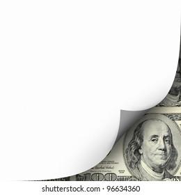 ein Bild von Papierkurven und Hundertdollarschein