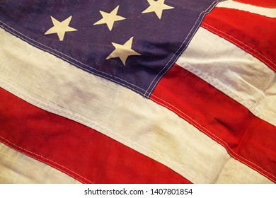 image of part of an old United States Of America flag