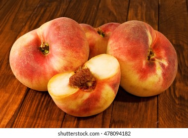 image of peaches on the table