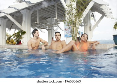 the image of people drinking cocktails in swimming pool,Boracay in Philippine
