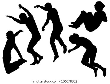 image of people involved in parkour