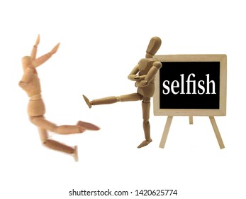 The image of a person who is selfish