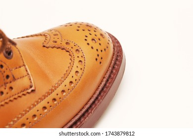 Image photograph of full brogue leather shoes.