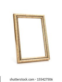 Image of Picture Frame Isolated on White, selective focus