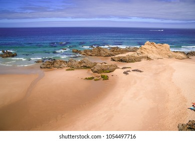 Image of picturesque seascape with abandoned beach in Porto Covo in Portugal