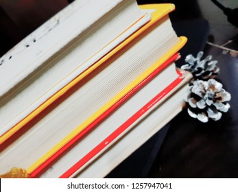 Image of piled books