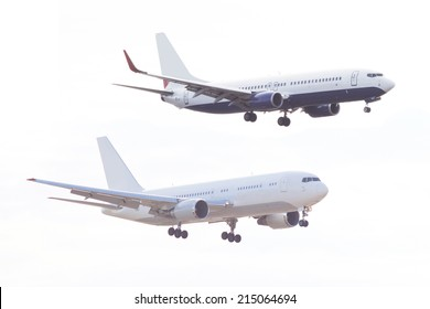 The image of plane under the white background