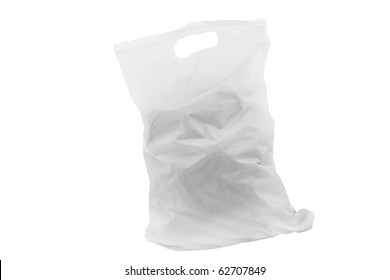 The image of plastic bag under the white background