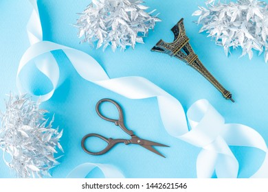 Image of presents decoration of scissors and ribbon