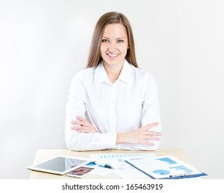 Image of pretty businesswoman