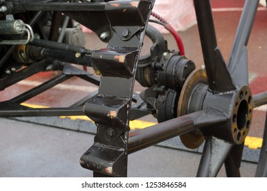 Image PTO shaft of a tractor drive wheel.