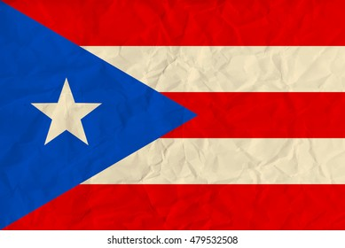 image of the Puerto-Rico paper  flag